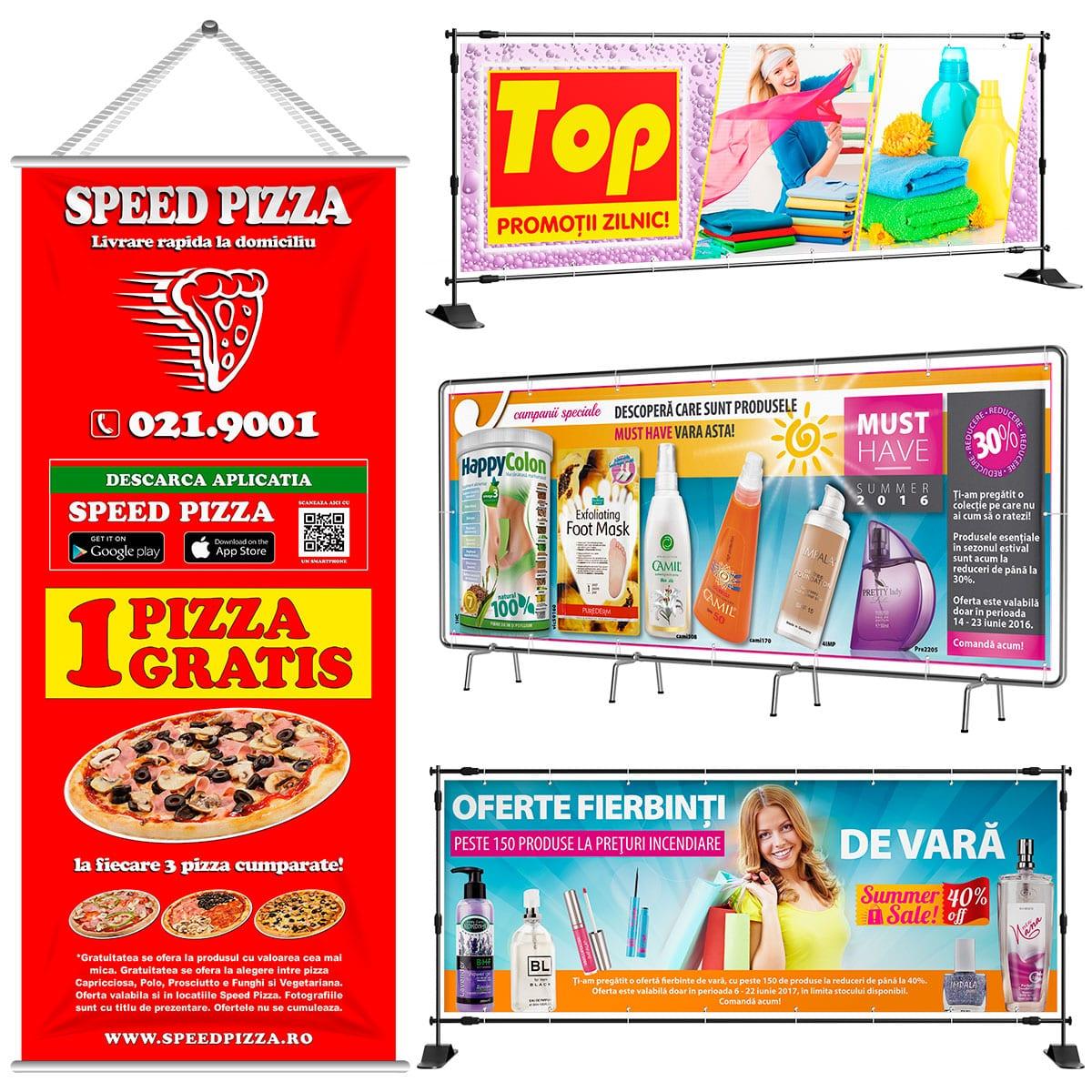Pentru servicii profesionale de grafică bannere publicitare interior apelați la noi cu încredere! Avem 13 ani de experiență în domeniul graficii publicitare.