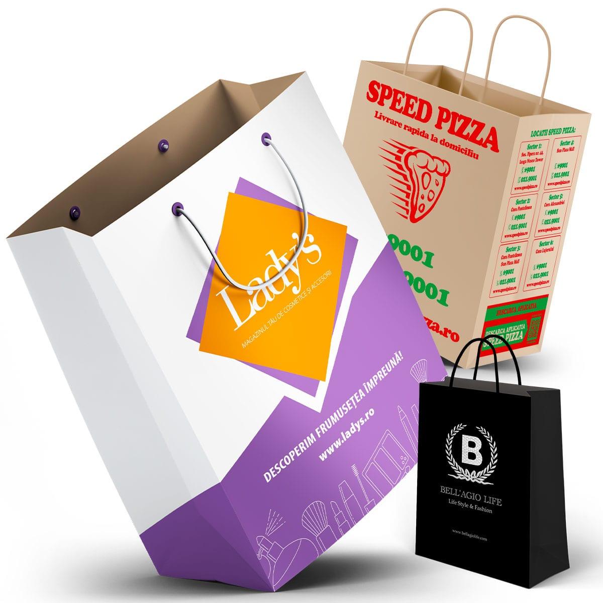 Venim în sprijinul tău cu propuneri de grafică pungi hârtie și plastic realizat de către specialiști cu experiență
