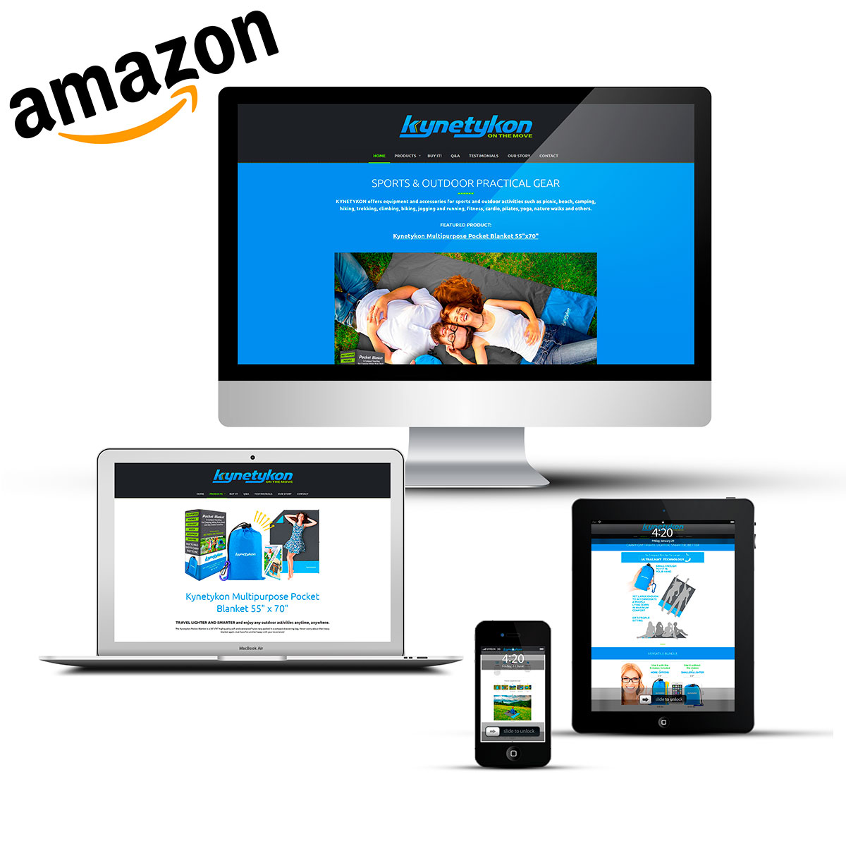 Amazon a creat un nou model de business, care a ajuns și în România. Dacă te-ai hotărât și tu să vinzi produse pe Amazon, știi că ai nevoie de un site de prezentare. Avem experiență și îți putem crea un site care să-ți aducă trafic pe pagina ta de Amazon.