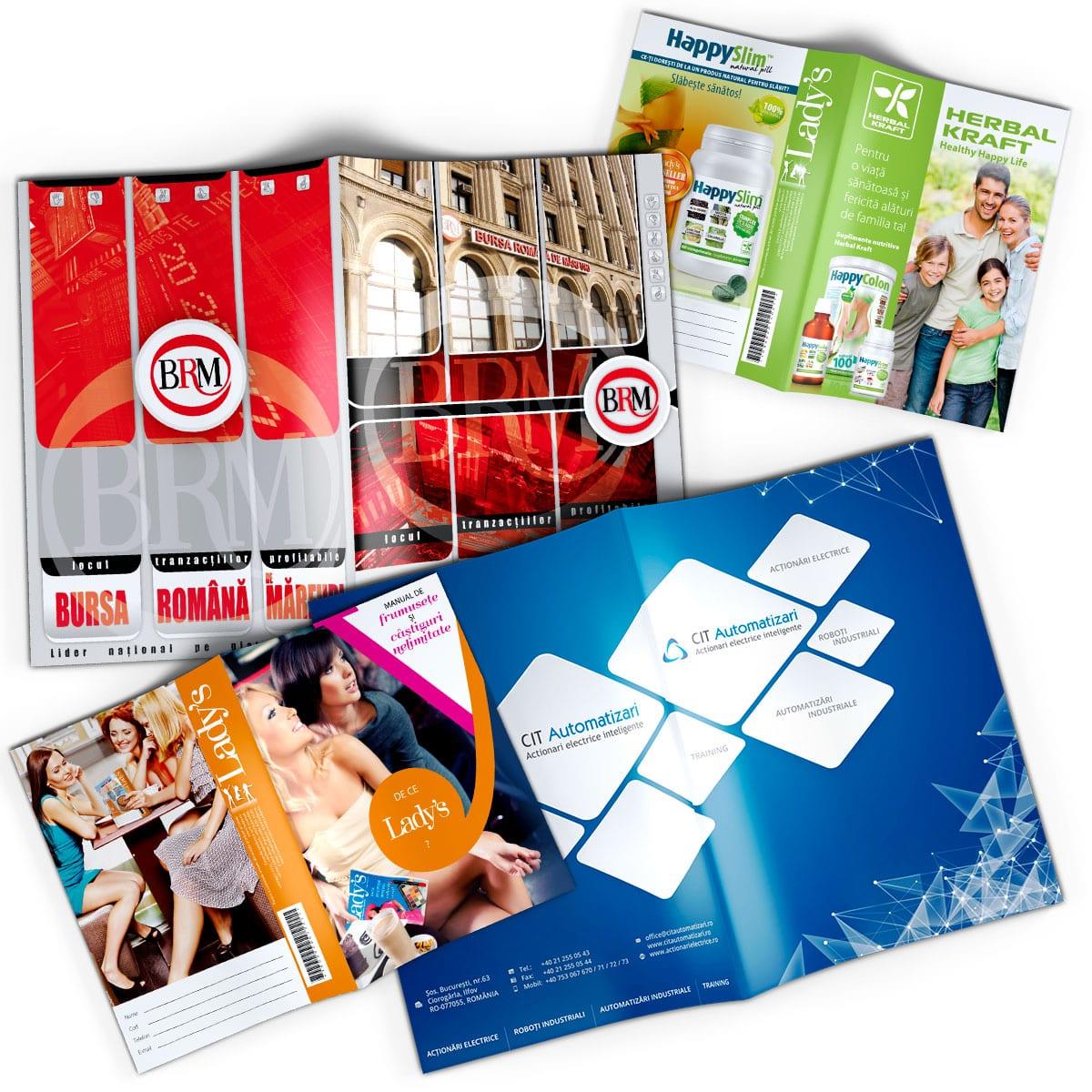 Broșurile realizate de noi au un design personalizat și unic pentru fiecare proiect, modern și atractiv