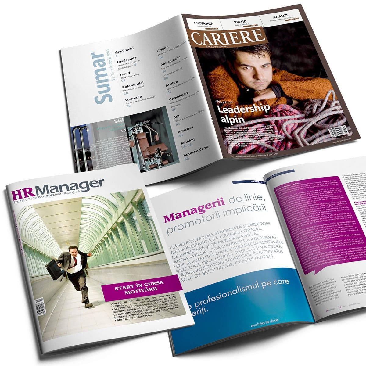 Realizăm design și machetare print – DTP pentru orice tip de reviste.