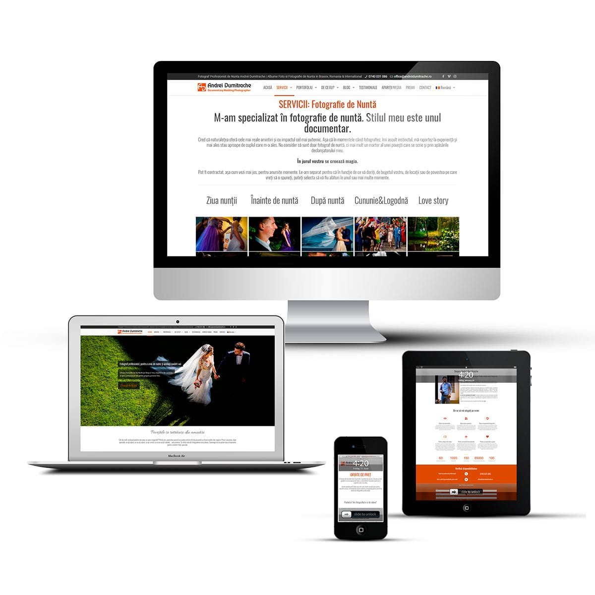 Realizăm site-uri de prezentare pe platforma WordPress complet responsive și care se văd perfect pe orice dispozitiv mobil