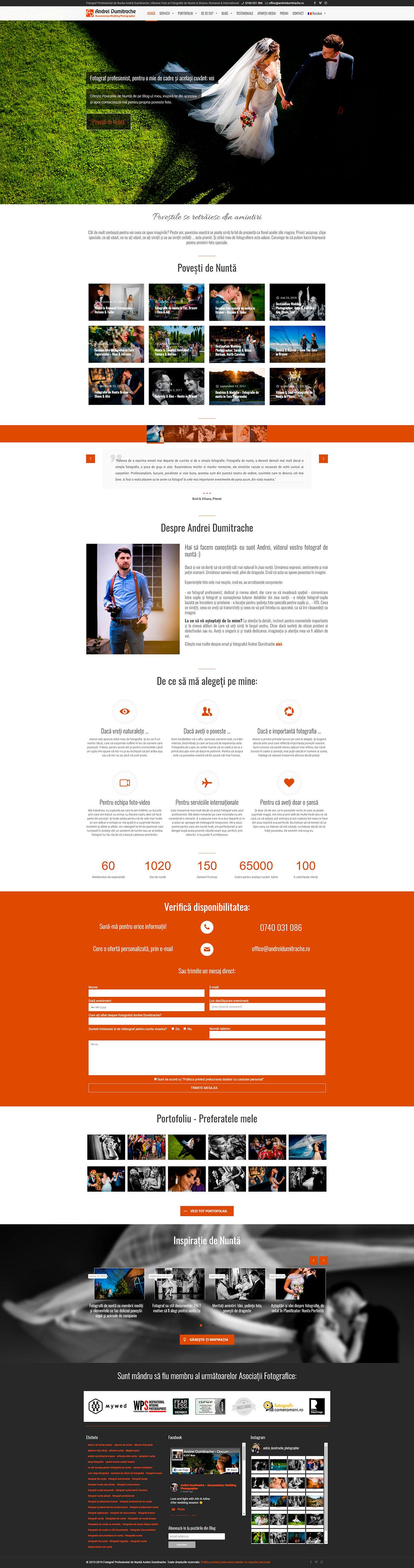 Realizăm site de prezentare în WordPress full responsive și care se vede perfect pe mobil