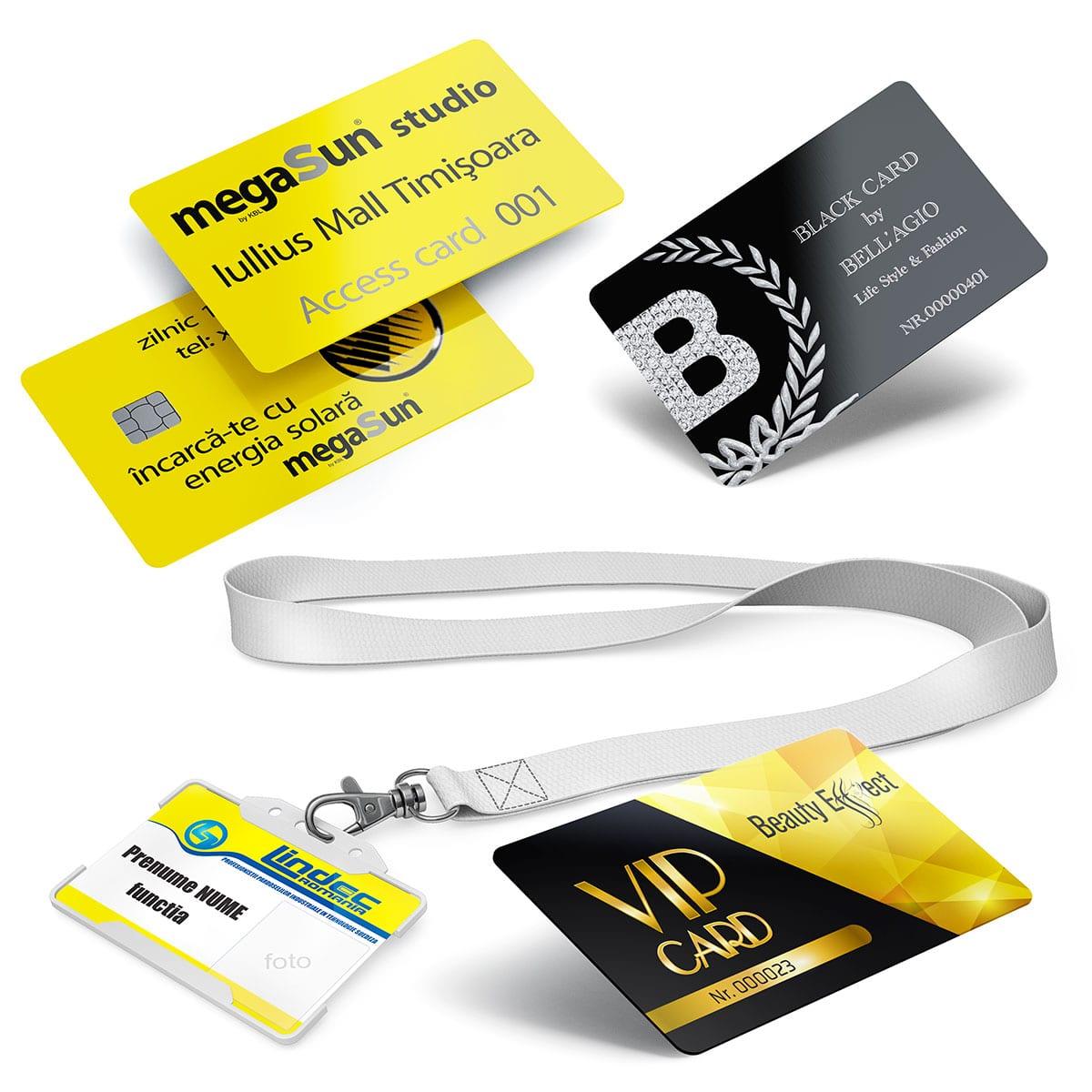 Cardurile personalizate se pot utiliza in programele de fidelizare a clienților cu rol de carduri de fidelitate personalizate