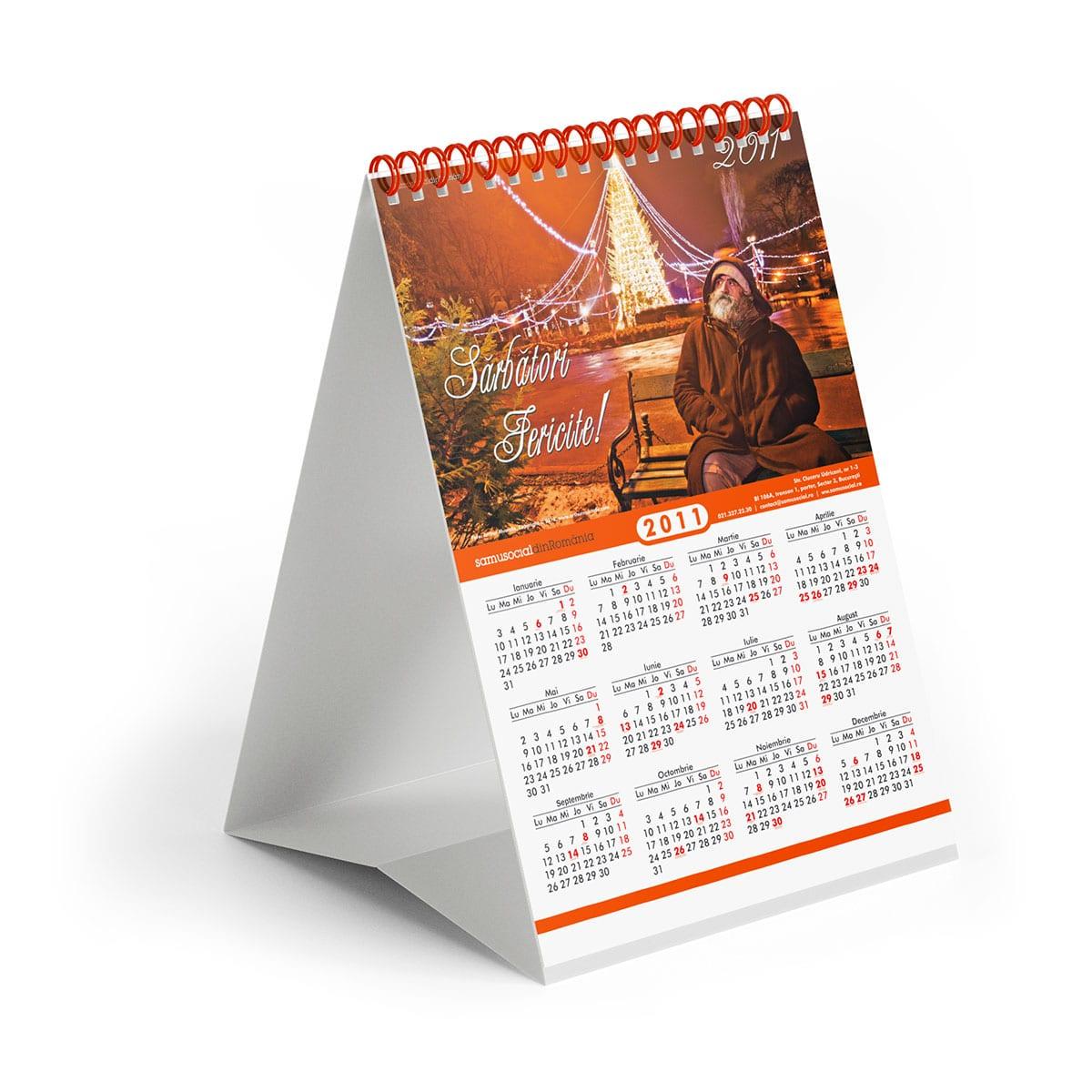 Oferim servicii profesionale de design calendare, pentru toate tipurile cele mai utilizate de calendare