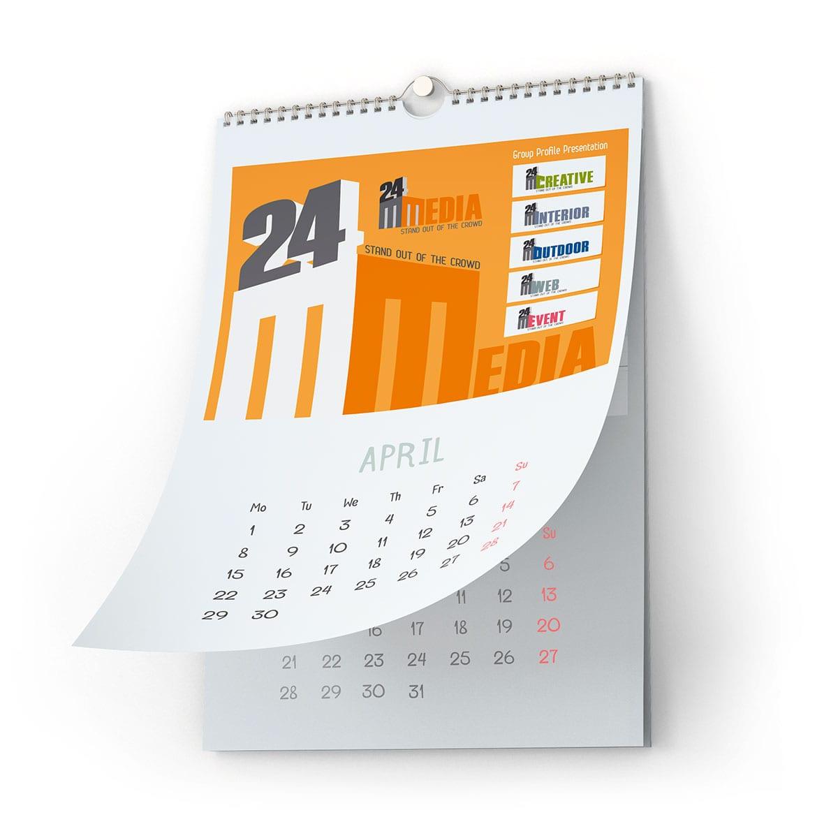 Utilizând calendarele personalizate poți spune mai multe despre afacerea ta decât ai putea transmite cu un calendar standard obișnuit.
