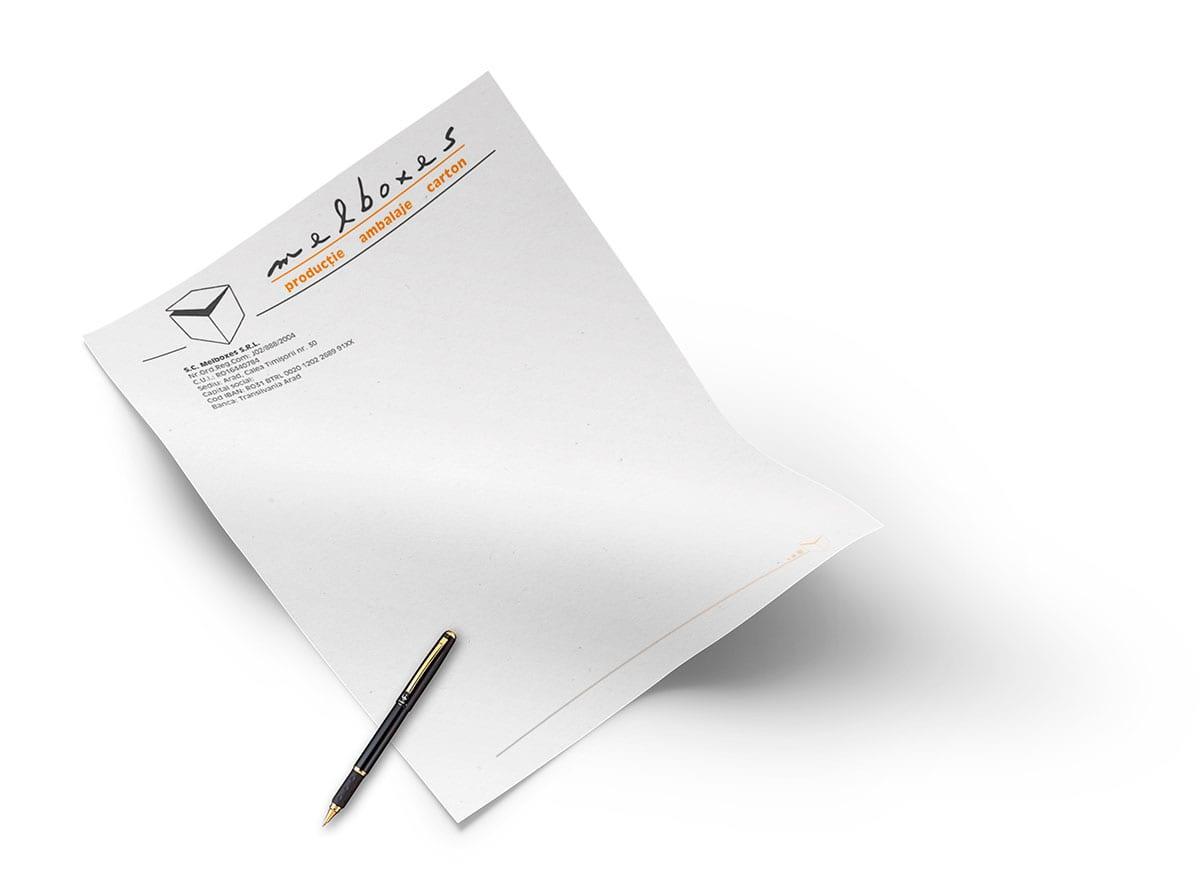 Îți stăm la dispoziție cu servicii profesionale de design și grafică publicitară pentru aceste materiale de tip stationery, cum sunt facturile fiscale personalizate.