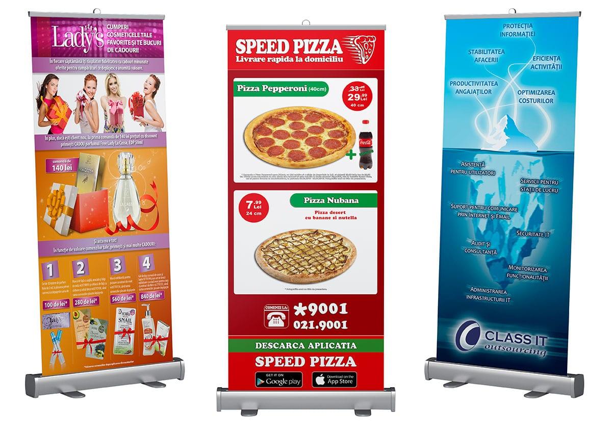 Roll-up-urile personalizate cu grafica creată de noi sunt soluția ideală pentru compania ta!