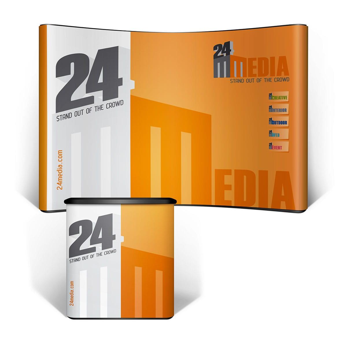 Pentru servicii profesionale de grafică standuri expoziționale apelați la noi cu încredere! Avem 13 ani de experiență în domeniul graficii publicitare.