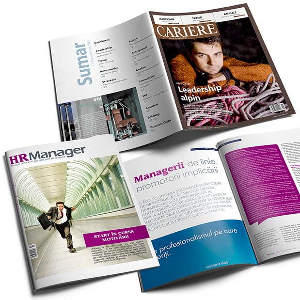 Realizăm design și machetare print DTP pentru orice tip de reviste.