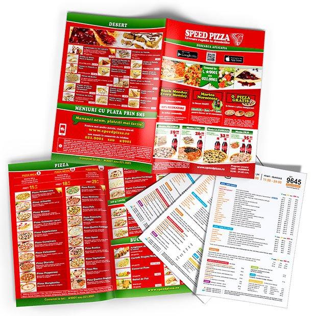 Oferim printre cele mai bune servicii de design și de grafică pentru meniuri restaurante, baruri, cafenele, hoteluri etc.