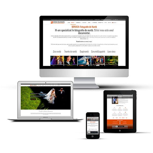 Îți stăm la dispoziție cu Servicii Web Design, creare site-uri de prezentare în WordPress, moderne, full-responsive, perfecte pentru dispozitivele mobile.