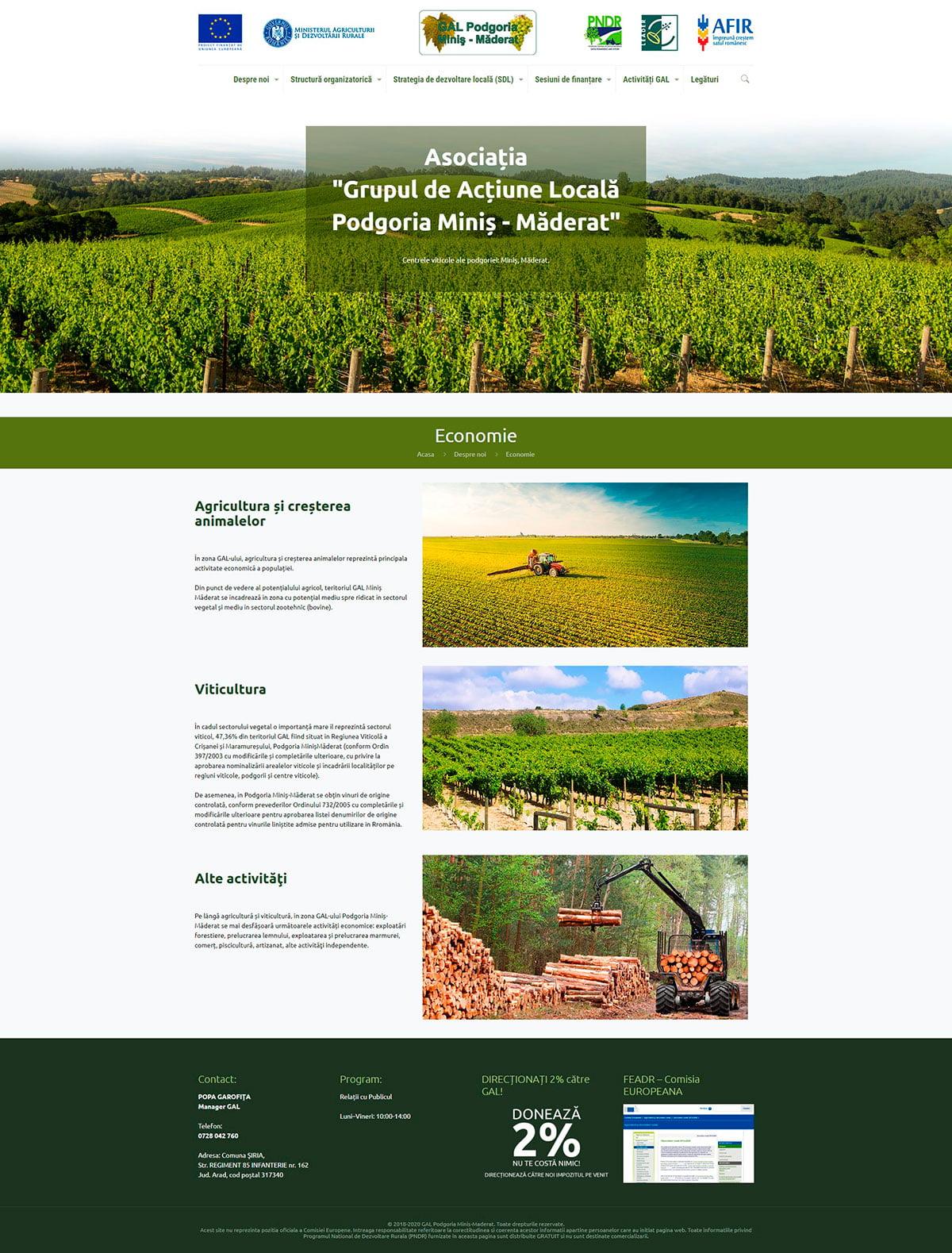 Site de prezentare îm WordPress pentru Asociația GAL PMM