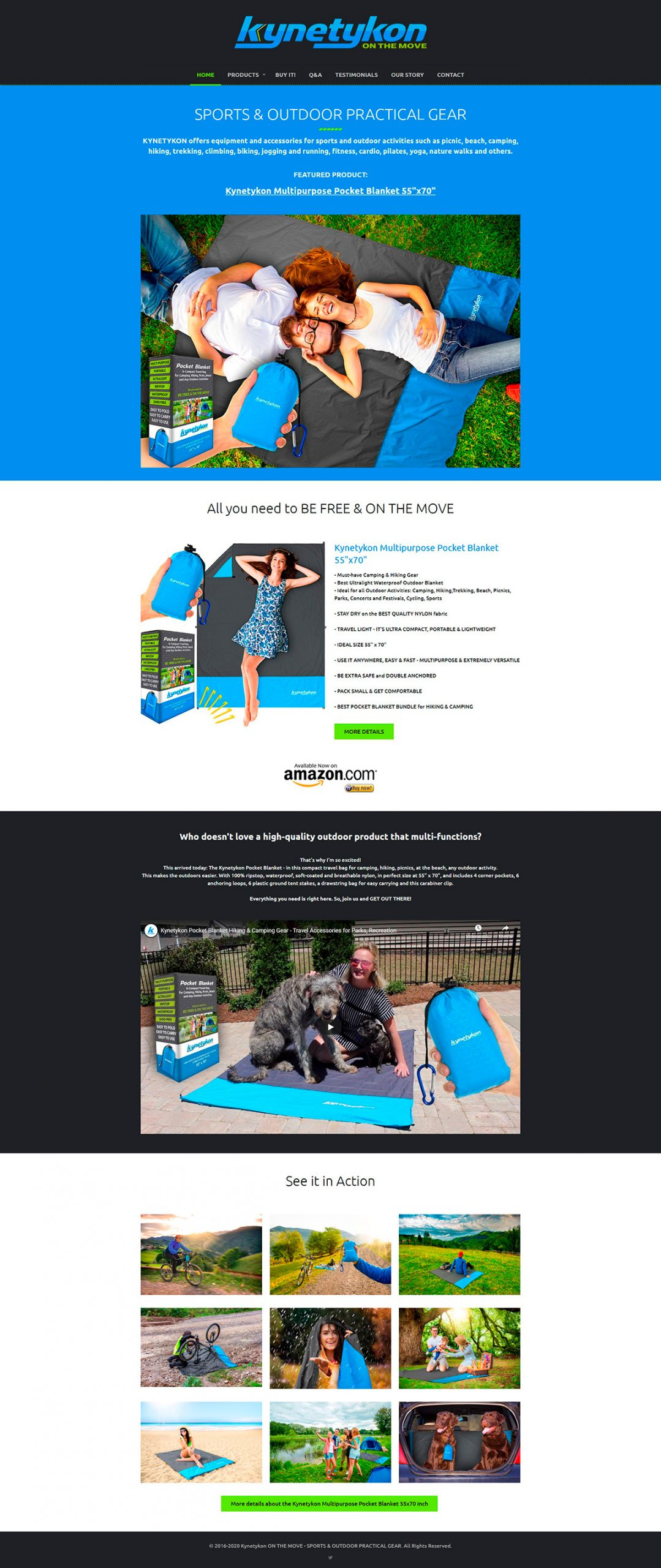 Web Design Site de Prezentare și Landing Page pentru Produse Amazon